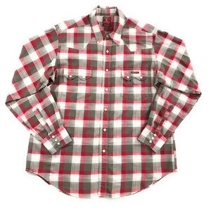 Lucky Brand Mens Plaid Snap Western Shirt, XL